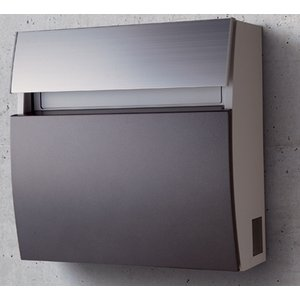 郵便ポスト パナソニック電工 フェイサス ラウンドタイプ 壁掛けタイプ  パネル:アクリル焼付塗装(メタリックグレー色)CTCR2200H|m1shop