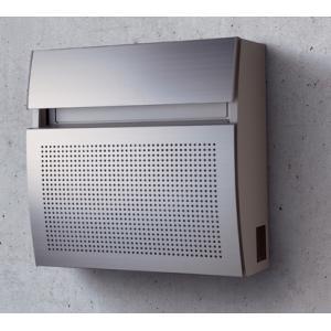 郵便ポスト パナソニック電工 フェイサス ラウンドタイプ 壁掛けタイプ S-2型 アルミパンチング(パネル)CTCR2201S|m1shop