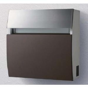 郵便ポスト パナソニック電工 フェイサス ラウンドタイプ 壁掛けタイプ パネル:アクリル焼付塗装(エイジングブラウン色)CTCR2203MA|m1shop