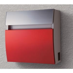 郵便ポスト パナソニック電工 フェイサス ラウンドタイプ 壁掛けタイプ パネル:アクリル焼付塗装(ビビッドレッド色)CTCR2203R|m1shop