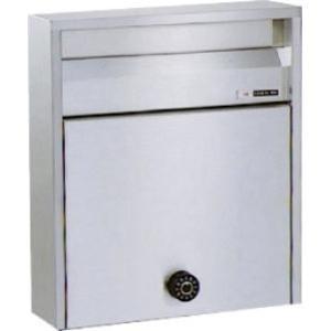 郵便ポスト ハッピー金属 680UK ヘアーライン 前入れ前出し 外掛けタイプ 奥行スリムタイプ m1shop
