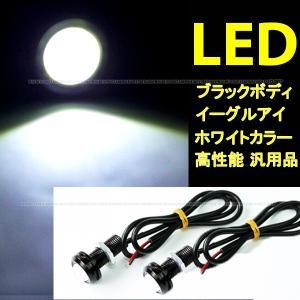 イーグルアイ LED デイライト スポットライト フォグ ブラックボディ 埋込ボルト固定 防水 2球 汎用品 DIY 送料無料