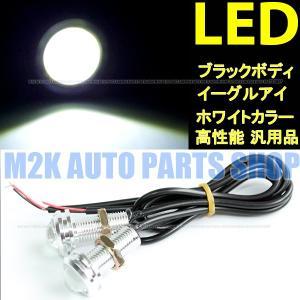 イーグルアイ LED デイライト スポットライト フォグ シルバーボディ 埋込ボルト固定 防水 2球 汎用品 DIY 送料無料