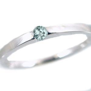 アクアマリン リング ホワイトゴールドk10 ピンキーリング k10wg 指輪 3月誕生石|ma38