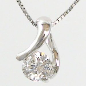 材質:ペンダントトップ プラチナ900/ネックレス プラチナ850 宝石名:ダイヤモンド 0.2ct...