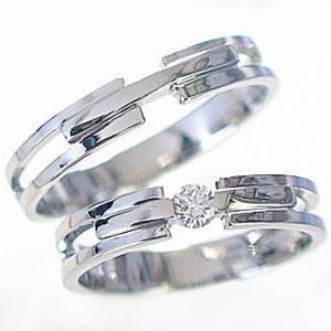 ダイヤモンド ホワイトゴールド ペアリング マリッジリング 結婚指輪 2本セット K10wg ダイヤ 0.10ct ストレート カップル ma38