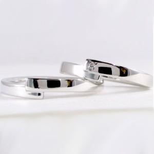 ダイヤモンド ホワイトゴールド ペアリング 結婚指輪 マリッジリング ペア 2本セット K10wg 指輪 ダイヤ 0.01ct ma38