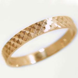 ピンクゴールド ダイヤカット加工 ペアリング 結婚指輪 ピンキーリング K10pg 指輪|ma38