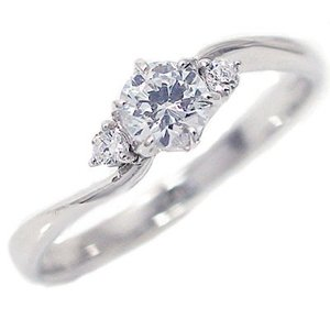 鑑定書付 ダイヤモンド プラチナ 婚約指輪 エンゲージリング ダイヤ 0.3ct E-VVS1-3EX H&C PT900|ma38