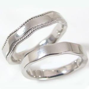 シルバー ペアリング 結婚指輪 マリッジリング ペア 2本セット SV925 指輪|ma38