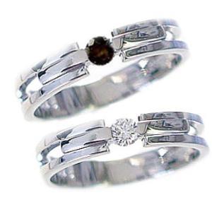 ダイヤモンド ホワイトゴールド ペアリング 結婚指輪 マリッジリング 2本セット K10wg ダイヤ ブラックダイヤ 0.10ctストレート カップル|ma38