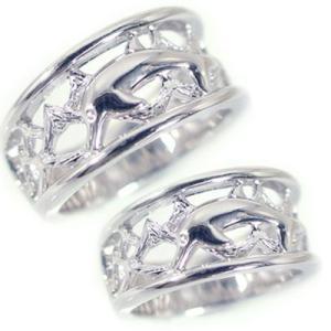 シルバー ペアリング 結婚指輪 マリッジリング 2本セット SV925 ドルフィンストレート カップル|ma38