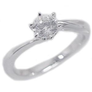鑑定書付 プラチナ ダイヤモンド 婚約指輪 エンゲージリング ダイヤ 0.45ct J-SI2-Good Pt900|ma38
