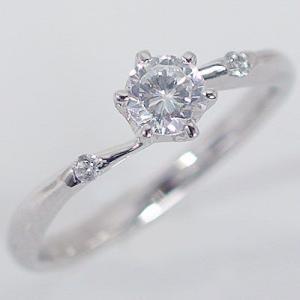 鑑定書付 プラチナ ダイヤモンド 婚約指輪 エンゲージリング ダイヤ 0.3ct F-VS2-EX 脇ダイヤ 0.03ct PT900|ma38