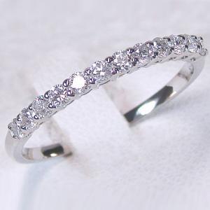 プラチナ ダイヤモンド ハーフエタニティー リング 一文字 SIクラス Pt900 指輪 ダイヤ 0.30ct 結婚記念日 婚約指輪|ma38