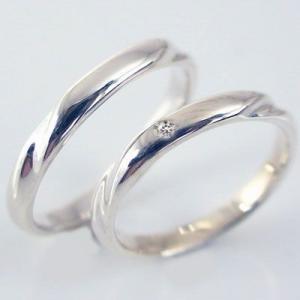 プラチナ ダイヤモンド ペアリング 結婚指輪 マリッジリング  2本セット Pt900 ダイヤ 0.01ct ストレート カップル|ma38