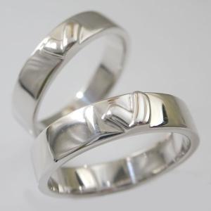 シルバー ペアリング  結婚指輪 マリッジリング  2本セット SV925 キスマーク|ma38
