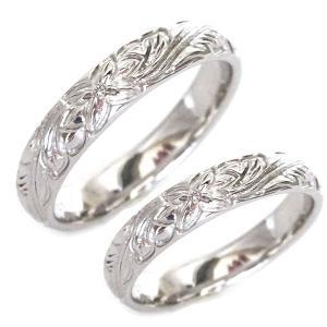 ハワイアンジュエリー ペアリング ダイヤモンド シルバー  結婚指輪 マリッジリング 2本セット SV925 ストレート|ma38