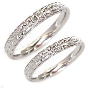 ハワイアンジュエリー ペアリング ダイヤモンド シルバー  結婚指輪 マリッジリング 2本セット SV925|ma38