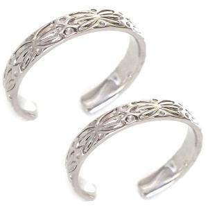 ハワイアンジュエリー ペアリング ホワイトゴールド 結婚指輪...