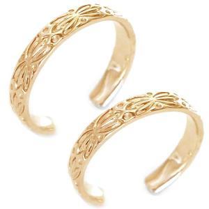 ハワイアンジュエリー ペアリング ピンクゴールド 結婚指輪 ...