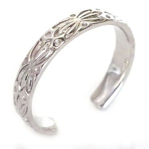 ハワイアンジュエリー 指輪 プラチナ リング Pt900 フ...