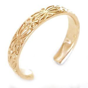 ハワイアンジュエリー 指輪 ピンクゴールドk18 メンズ リ...