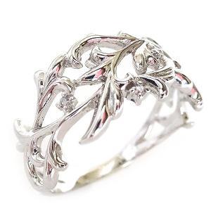 プラチナ リング ダイヤモンド 幅広 透かし Pt900|ma38