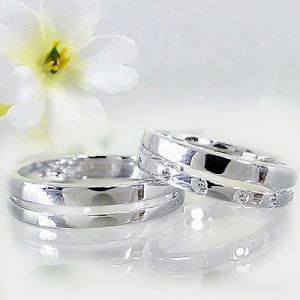 ダイヤモンド ホワイトゴールド ペアリング 結婚指輪 マリッジリング 2本セット K10wg 指輪 ダイヤ 0.06ct ma38