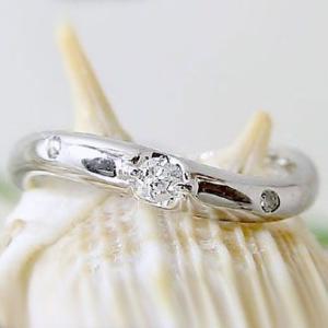 ダイヤモンド プラチナ ピンキーリング Pt900 指環 ダイヤ 0.07ct|ma38