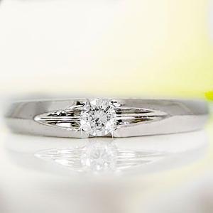 一粒 ダイヤ ピンキーリング ダイヤモンド プラチナ900 Pt900 指輪|ma38