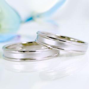 ホワイトゴールド ペアリング 結婚指輪 マリッジリング 2本セット K18wg ストレート カップル|ma38