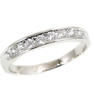 ダイヤモンド リング ホワイトゴールド 一文字 SIクラス 10石 K18wg 指輪 ダイヤ 0.20ct|ma38