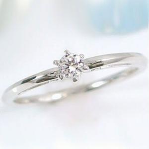 プラチナ ダイヤモンド 婚約指輪 エンゲージリング 立爪 Pt900 ダイヤ 0.1ct VSクラス ブライダル|ma38