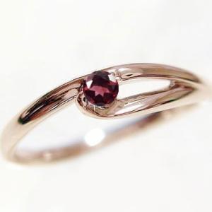 選べる 誕生石 リング ピンクゴールドk10 天然石 宝石 カラーストーン 指輪 K10pg|ma38