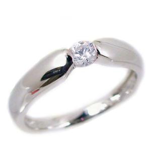 一粒 ダイヤモンド プラチナ ピンキーリング Pt900 指輪 ダイヤ 0.07ct|ma38