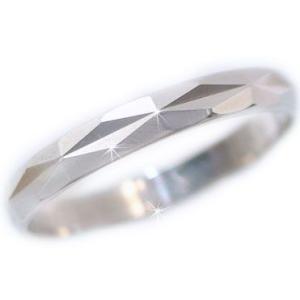 プラチナ 指輪 ダイヤカット加工 ペアリング 結婚指輪 Pt900ストレート カップル ストレート カップル|ma38