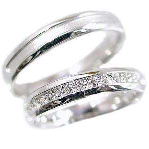 ダイヤモンド ホワイトゴールド ペアリング 結婚指輪 マリッジリング 2本セット K10wg 指輪 ダイヤ 0.10ct ma38