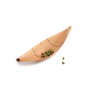 竹集成材の船形のトレー HULL TEORI maaoyama