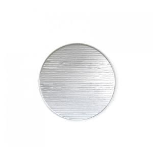 縞柄のアルミプレート丸型 平皿11.4cm maaoyama