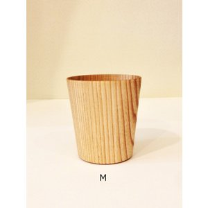 木のコップ KAMI Wide glass W-M 高橋工芸|maaoyama