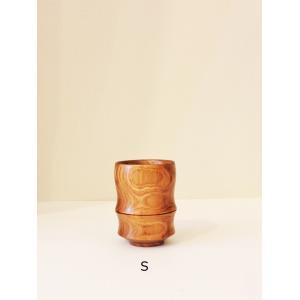木製の湯のみ エンジュ 湯呑竹型S 高橋工芸|maaoyama