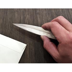 ステンレス製の笹の葉 ペーパーナイフ シルバー|maaoyama