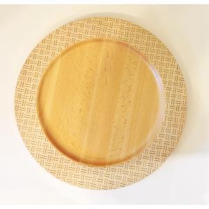 寄木細工のお皿 リムプレート くずし白30cm|maaoyama