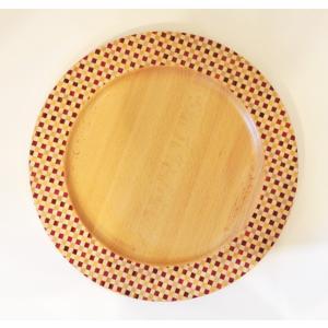 寄木細工のお皿 リムプレート 市松30cm|maaoyama