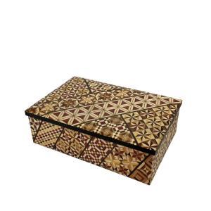 箱根寄木細工 6寸小物入れ 小寄木 アクセサリーボックス|maaoyama