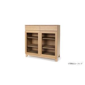 竹集成材のカップボード ロータイプ W900xD400xH900mm TEORI|maaoyama
