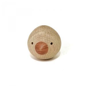 ぴよぴよ 鈴入り 6cm 赤ちゃんの木製のおもちゃ|maaoyama