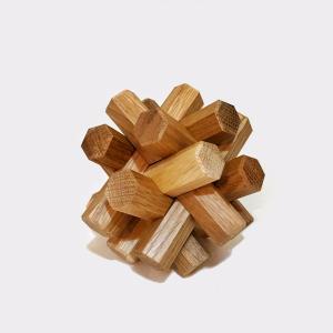 組み木立体パズル 12本組 ナラ材|maaoyama