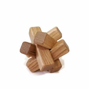 組木立体パズル 6本組 ナラ材|maaoyama